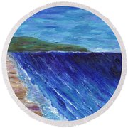 Beautiful Palos Verdes 2 Round Beach Towel