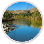 Beautiful Payette River Round Beach Towel by Robert Bales