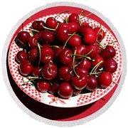 Beautiful Prosser Cherries Round Beach Towel