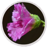 Beautiful Purple Flower Round Beach Towel