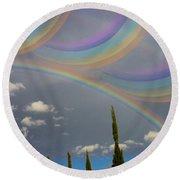 Beautiful Rainbows Round Beach Towel