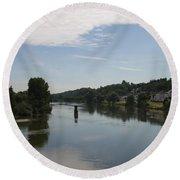 Beautiful River Loire  Round Beach Towel