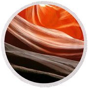 Beautiful Sandstone Layers Round Beach Towel