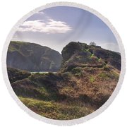 Beautiful  Sark One Of The  Channel Islands Round Beach Towel