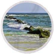Beautiful Sea Round Beach Towel