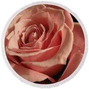 Beautiful Peach Rose Round Beach Towel