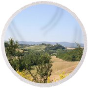 Beautiful Spot - Crete Senesi Round Beach Towel