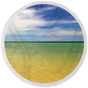 Beautiful St George Island Water Round Beach Towel