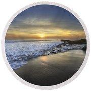 Beautiful Sunrise Round Beach Towel