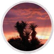 Beautiful Sunset In Arizona Round Beach Towel