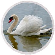 Beautiful Swan Round Beach Towel