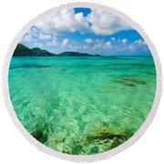 Beautiful Turquoise Water Round Beach Towel