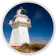 Beautiful Waipapa Point Lighthouse The Catlins Nz Round Beach Towel