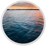 Beautiful Waters Round Beach Towel