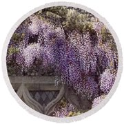 Beautiful Wisteria Round Beach Towel