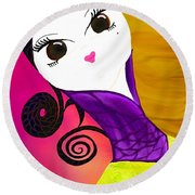 Beauty 1.0 Round Beach Towel