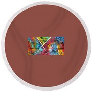 Beauty Amongst The Chaos By Madart Round Beach Towel