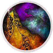 Beauty And The Beast Round Beach Towel by Mandie Manzano