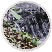 Beauty And The Rapids Round Beach Towel