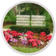 Beauty At Pelican Cove Round Beach Towel