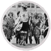 Beauty Contest, 1921 Round Beach Towel