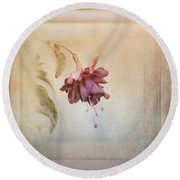 Beauty Fades Softly Framed Round Beach Towel