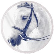 Beauty In A Bridle Round Beach Towel