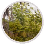 Beauty In  A Swamp Ll Round Beach Towel