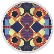 Beauty In Symmetry 1 - The Joy Of Design X X Arrangement Round Beach Towel