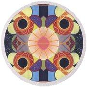 Beauty In Symmetry 4 - The Joy Of Design X X Arrangement Round Beach Towel