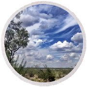 Beauty In The Sky Round Beach Towel