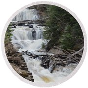 Beauty In The Woods Round Beach Towel