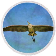 Beauty Of Flight Textured Round Beach Towel