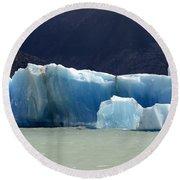 Beauty Of Icebergs Patagonia 6 Round Beach Towel