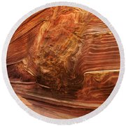Beauty Of Sandstone Arizona Round Beach Towel