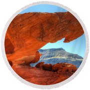 Beauty Of Sandstone Little Finland Round Beach Towel by Bob Christopher