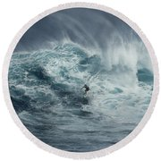 Beauty Of The Extreme Round Beach Towel by Bob Christopher