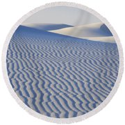 Patterns White Sands New Mexico Round Beach Towel