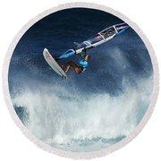 Beauty Of Windsurfing Maui 1 Round Beach Towel