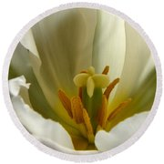 Beauty Within Round Beach Towel