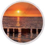 Beautyful Sunset Round Beach Towel