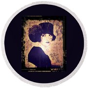 Bebe Daniels - 1920s Actress Round Beach Towel