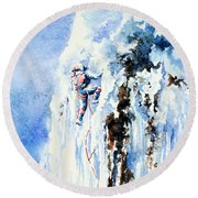 Because It's There Round Beach Towel by Hanne Lore Koehler