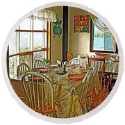 Bed And Breakfast Over The Water At Fishing Point In Saint Anthony-nl Round Beach Towel