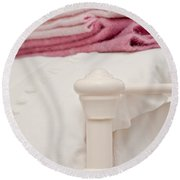 Bed Post Round Beach Towel