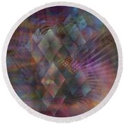 Bedazzled - Square Version Round Beach Towel
