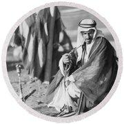 Bedouins In Jordan Round Beach Towel