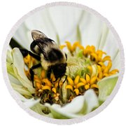 Bee All That You Can Bee Round Beach Towel