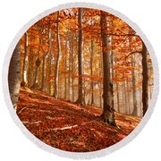 Beech Forest Round Beach Towel