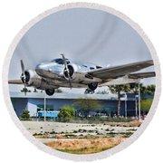 Beechcraft D-18 Round Beach Towel